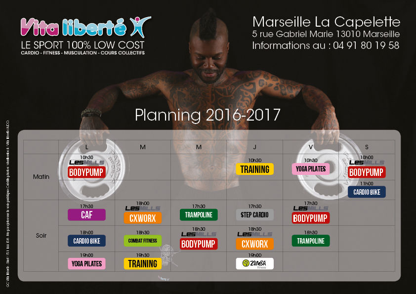 Vita liberte le sport 100 low cost marseille la capelette for Low cost marseille